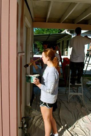 Service trip repairs Hurricane Katrina damage