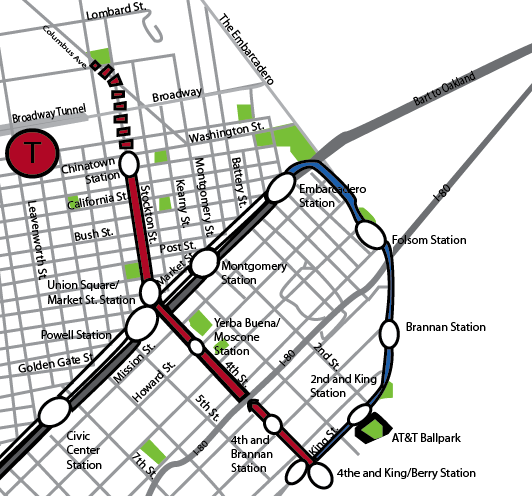 Muni Subway Map.Central Subway Project Alters Downtown Traffic The Broadview