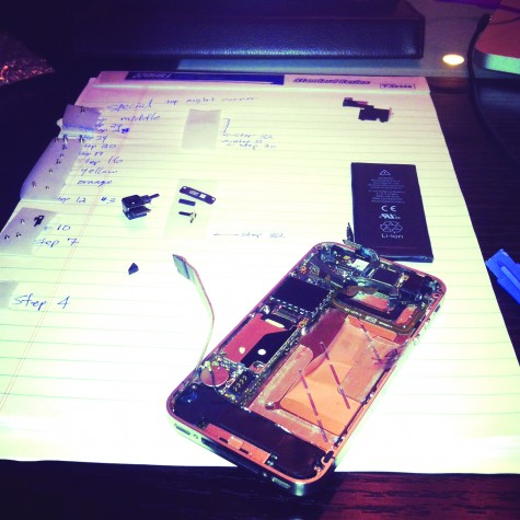 Student self-repairs cell phone