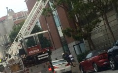 Fire causes Broadway evacuation