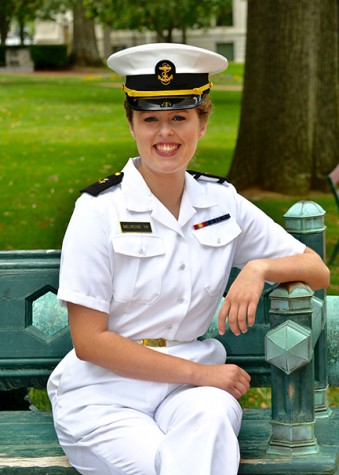 Alumna makes waves at US Naval Academy