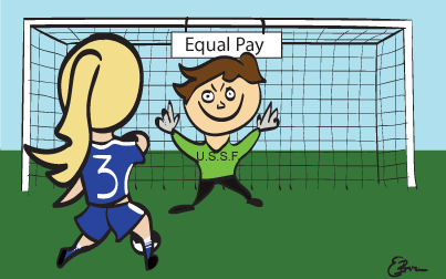 Soccer players shoot for equal pay