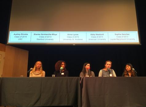 Alumnae participate in college panel