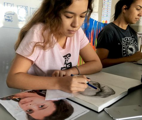 Art classes participate in worldwide project