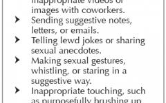 Working around sexual harassment