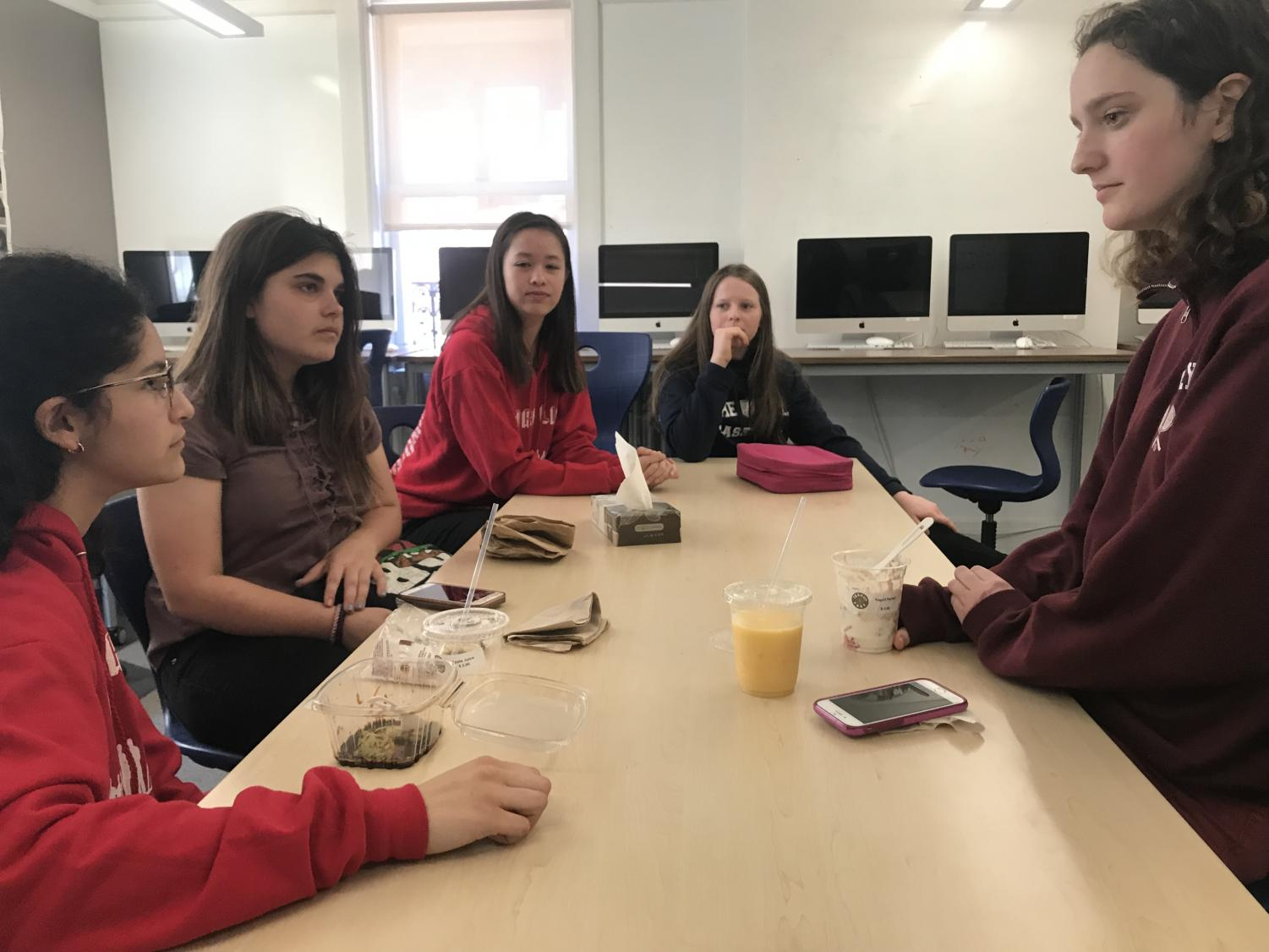 The Philosophy Club meets for their weekly Monday discussion. The club is currently only freshmen but is open to accepting students from any grade level.