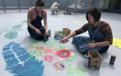 Students bring new art to old space