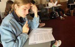 Junior English classes prep for AP exam