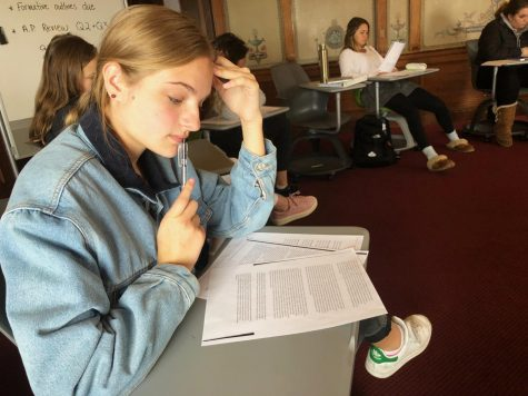 Seniors sit for first year of IB testing