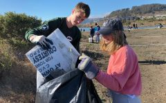 Volunteers gather in the Bayview for cleanup