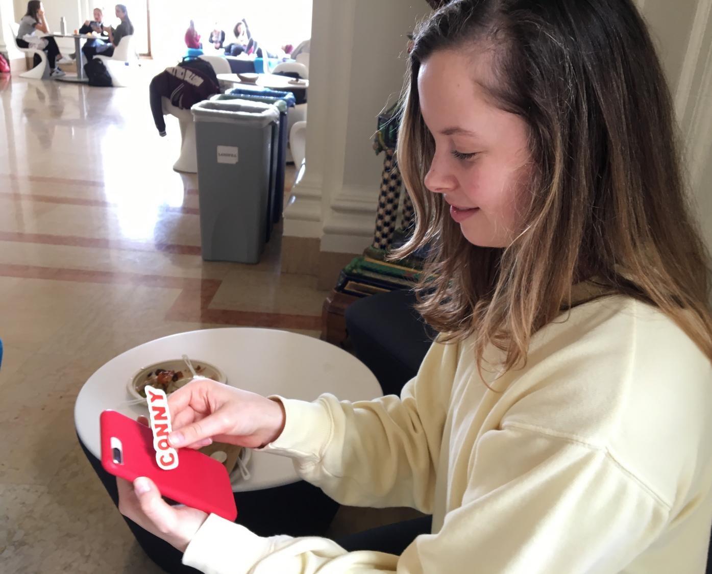Senior Emma Hubbard holds a