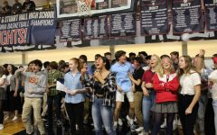 Student body participates in pep rally
