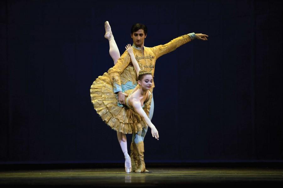 Maria Kochetkova and Davit Karapetyan dance in the Grand Pas de Deux in Tomasson's Nutcracker. Nutcracker's premiere in the United States was with San Francisco Ballet in 1944. Erik Tomasson   with permission