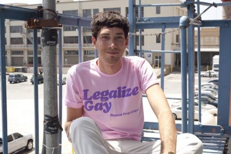"AMERICAN APPAREL | with permission ""Legalize Gay"" shirts are sold at American Apparel for $17. A similar clothing line is sold at Marc Jacobs."