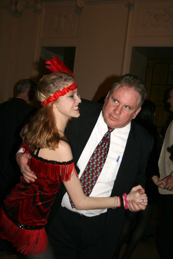 Junior Lauren Arnold, dressed up for the 1920s-theme, dances with her father at the annual Father Daughter Dinner Dance. Stompy Jones played swing music throughout the evening.