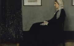"James Whistler's ""Arangement in Grey and Black,"" more commonly known as ""Whistler's Mother"" (1871) is currently on display at the de Young."