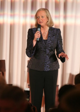 Gubernatorial candidate Meg Whitman speaks at a private fundraising event. Photo: ZOE NEWCOMB | the broadview