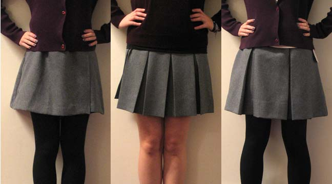 The+student+body+is+deciding+which+of+three+skirts+will+be+the+new+uniform.+The+current+unifrom+skirt+was+selected+in+1976.
