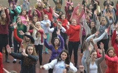 Girls unite against domestic violence through dance