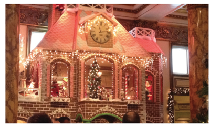 Crowds mill around at the opening of the gingerbread house at the Fairmont Hotel on Nov. 29. The Fairmont Hotel has a donation box to collect money to support LLS.