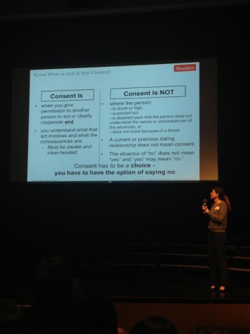 Speaker educates students about cyberbullying and sexual assault