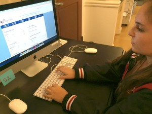 Senior Hailey Cusack registers to vote on the U.S. Vote Foundation website in order to vote in the next election.