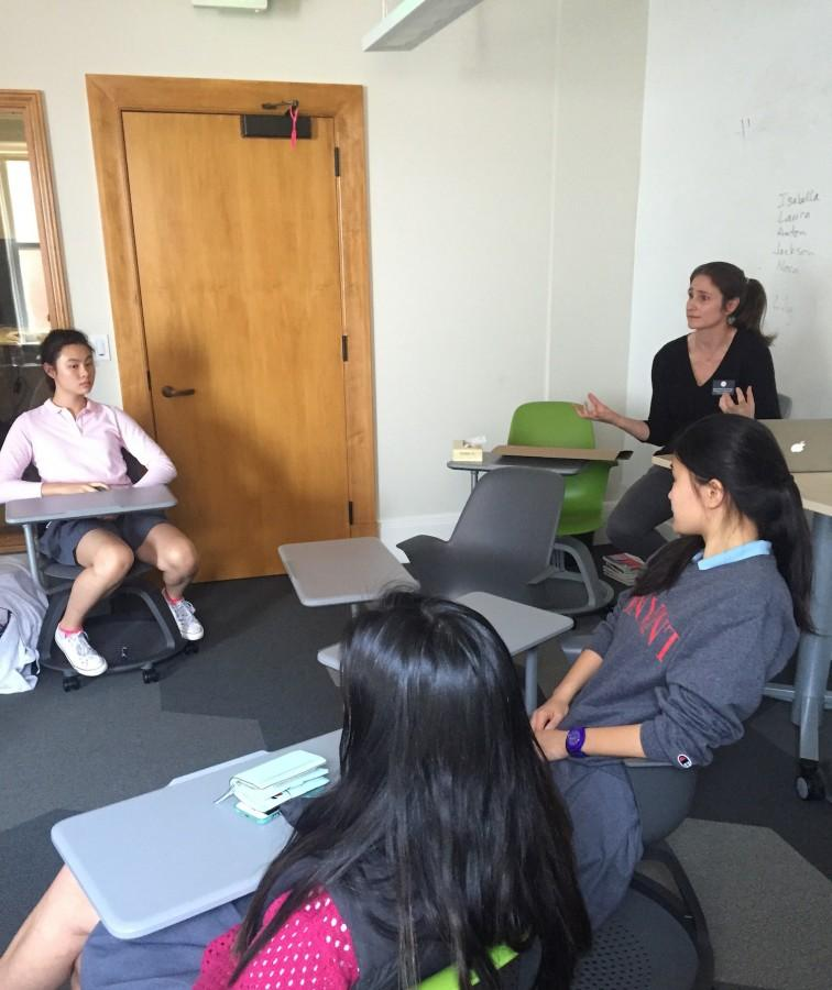 Athletic+Director+Elena+DeSantis+discusses+how+captains+of+spring+sports+can+strengthen+their+leadership+skills.+The+counsel+meets+at+various+different+times+during+the+week+including+during+lunch+and+late+afternoons.