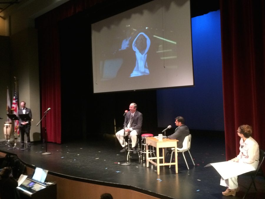 Faculty star in surprise assembly