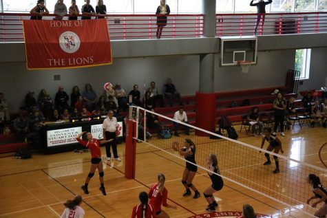 Volleyball teams utilized daily practice time to improve skills for upcoming game