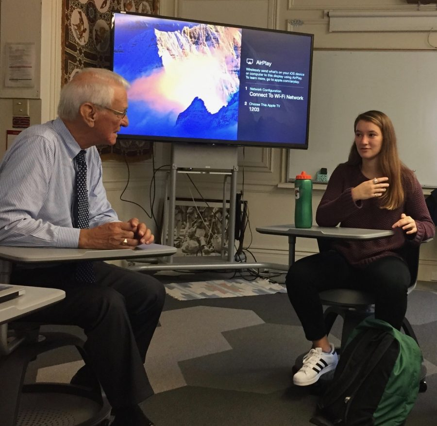 Senior Delaney Moslander shares her personal experiences at Costa Rica with Julian Domenech during a meeting with the Student Council. Domenech talked about the reason for the Costa Rica trip, as well as his personal backstory.