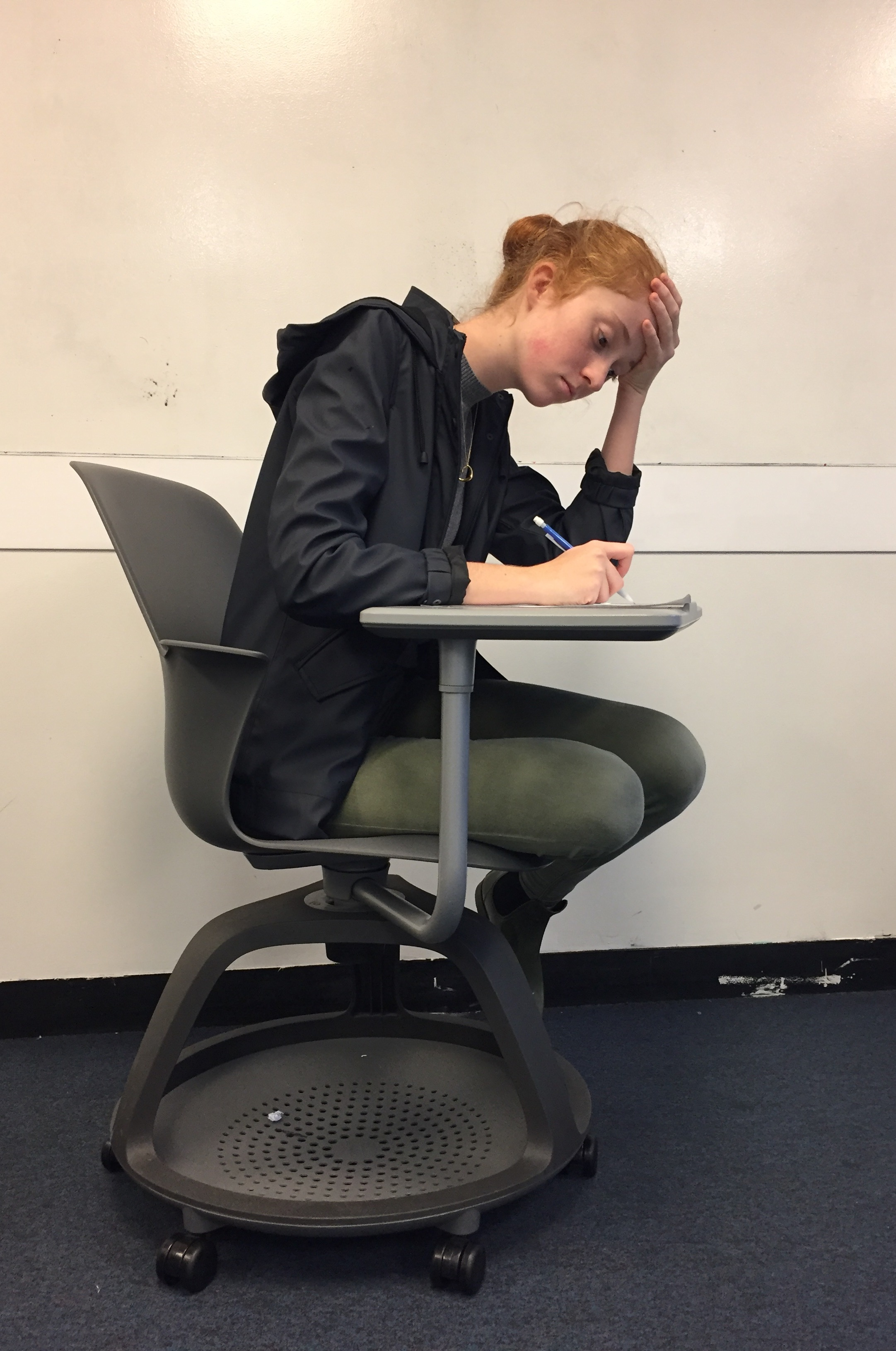Sophomore Kate Ward writes a creative story for the Kate Chopin Writing Competition. Each story will be judged by the English department and the winner will be named at an assembly later this year.