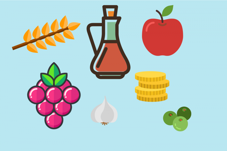 Items+part+of+the+Nowruz+celebrations+include+wheat%2C+berries%2C+vinegar%2C+apples%2C+garlic%2C+olives%2C+and+various+coins.+These+items%2C+along+with+others%2C+are+placed+on+the+tradition+table+spread+to+honor+the+New+Year%E2%80%99s+gift+of+rebirth%2C+health%2C+and+prosperity.+Images+courtesy+flaticon.com.%0A