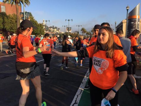Students spend the day volunteering at the 2017 Giant Race
