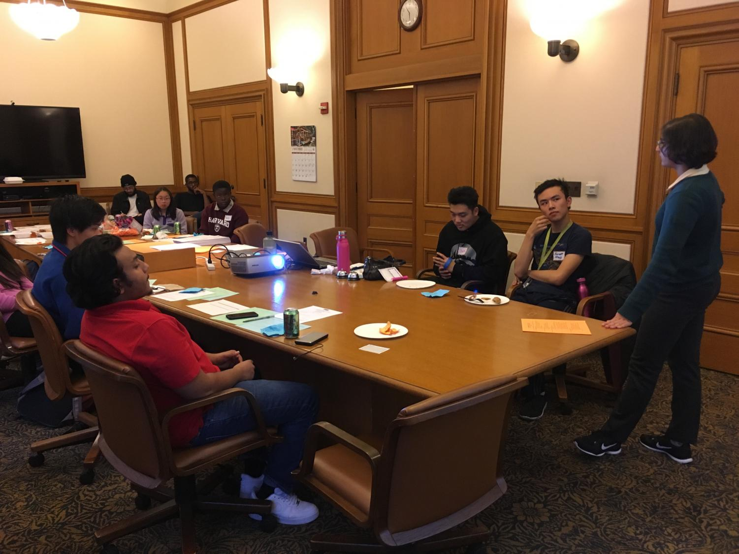 Arianna Nassiri presents to the San Francisco Youth Commission about voter pre-registration for those eligible to vote on election day. Nassiri was sworn into the Youth Commission this September with 17 other Bay Area youth, ages 12 to 23.