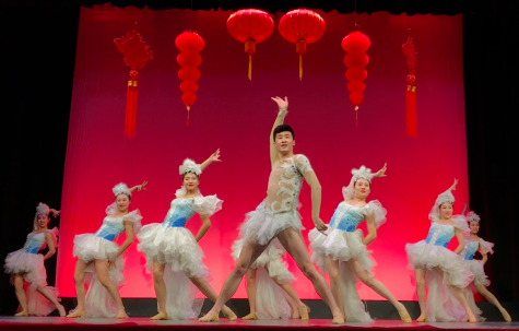Chinese dancers perform in Syufy Theatre in honor of the Chinese New Year on Monday. The Heilongjiang Art Troupe of China performed for schools around the Bay Area, including Convent & Stuart Hall's upper and lower schools.
