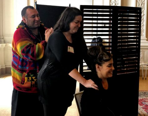 Faculty receive massages