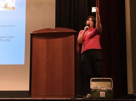 Suicide prevention assembly equips students