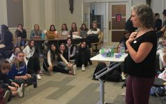 Students ask anonymous health questions during class meetings