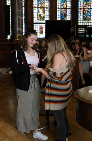 Upperclassmen participate in ring ceremony