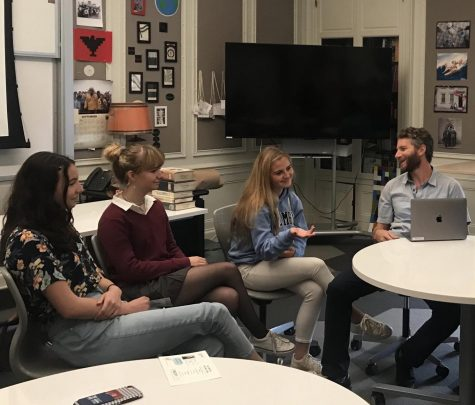 Anthoney Reyes' advisory discusses Greta Thunberg and her thoughts on environmental issues. The discussion continued from last week's meeting where students watched videos about climate change.