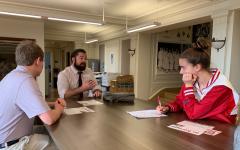 College reps visit campus