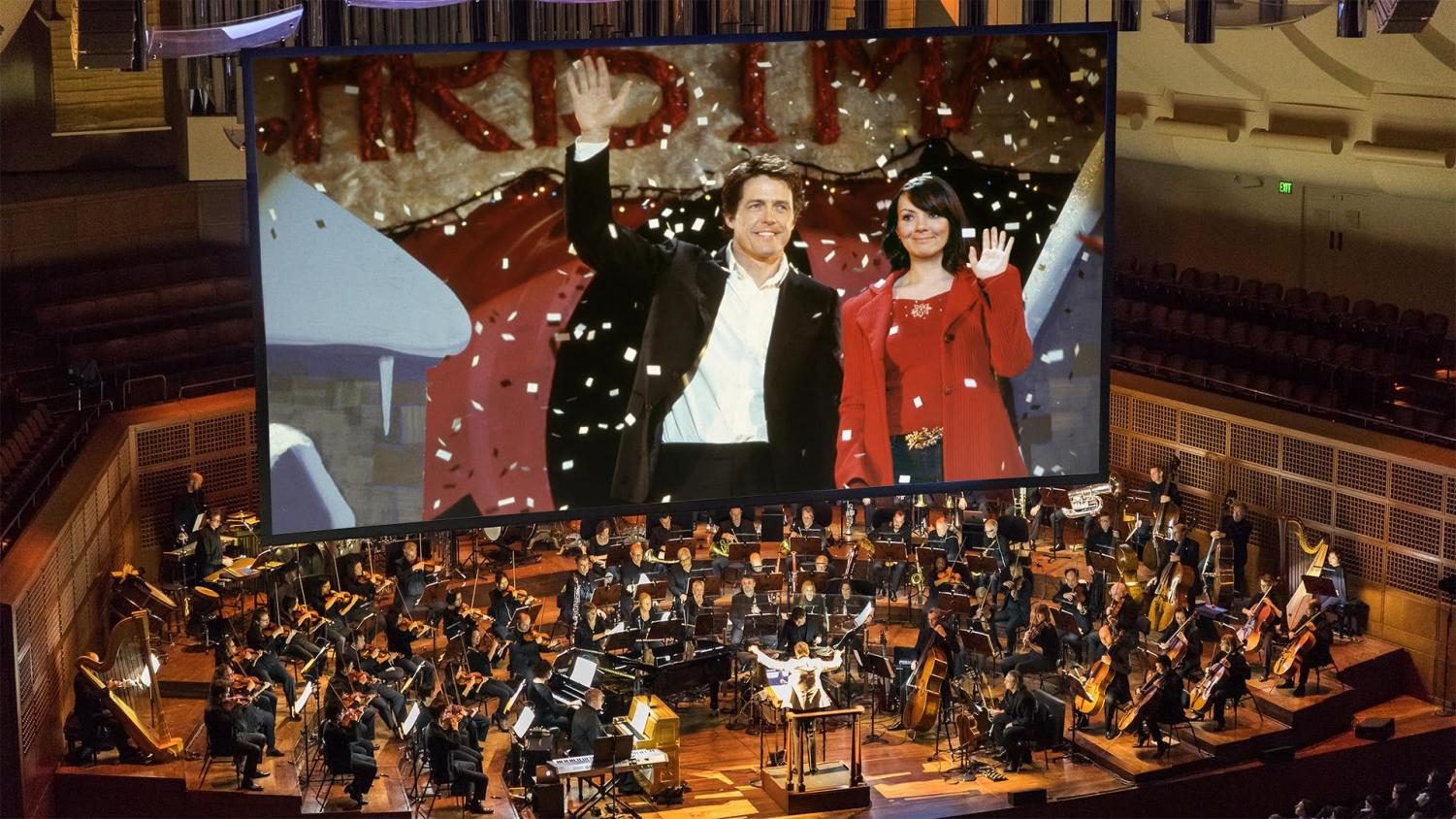 The San Francisco Symphony plays the soundtrack along to the film of