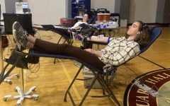 Students donate blood