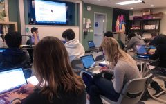 Juniors study for a quiz in IBSL Biology on Tuesday, Nov. 17, the second day of Session 4. Most classes have a combination of students attending in-person and online to allow for family preferences.