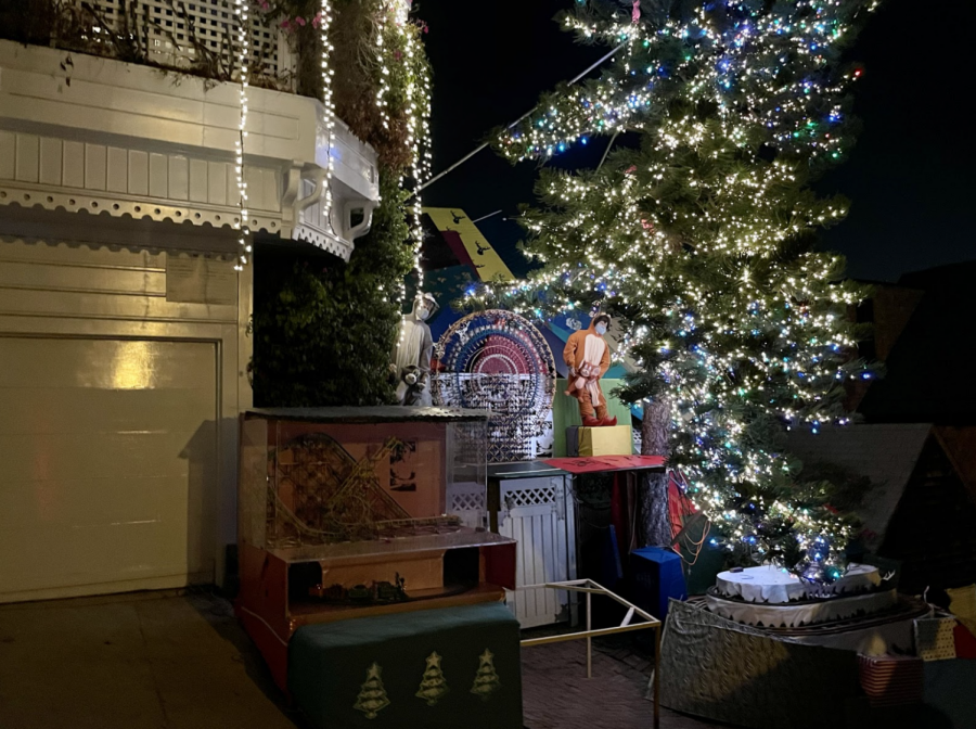 Owners of San Francisco's well-known Tom and Jerry Christmas house decorate the yard with lights and toys such as dancing dolls, a Ferris Wheel and stuffed animals. The annual Christmas displays started about 30 years ago.