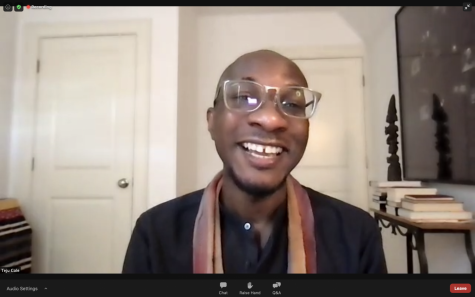 Harvard Professor Teju Cole speaks to the student body about his experiences with racial and societal injustices. The webinar lasted over an hour, so students continued their day with 2-hour blocks instead of 2.5-hour blocks.