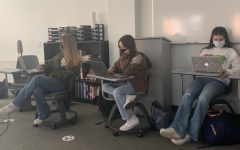 Freshmen in a Block One Spanish II class wear denim for International Denim Day. The day of awareness is observed annually on April 28.