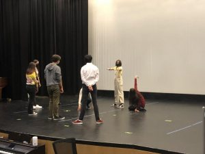 High schoolers begin acting out scenes from William Shakespeare's As You Like It in their second rehearsal. Rehearsals will take place four days a week, and performances will run from Oct. 21 through the 23.