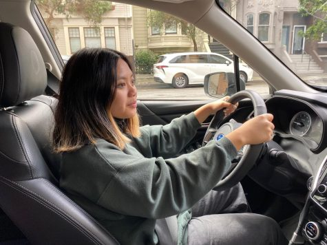 Junior Isabella Mercado moves her car during the passing period of her day. Students and faculty without a parking permit must move their vehicle every two hours.
