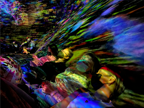 Seniors Devon Carlson and Kelly Cronan experience teamLab: Continuity, an interactive exhibition at the Asian Art Museum. The exhibit was created by teamLab, a Japanese art collective and interactive design corporation, who constructed an immersive experience with sound, projection and illustration.